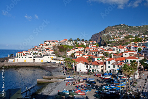 Fotografie, Obraz  fishing village camara de lobos on madeira island, portugal