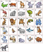 Colorful Animal`s Alphabet For...