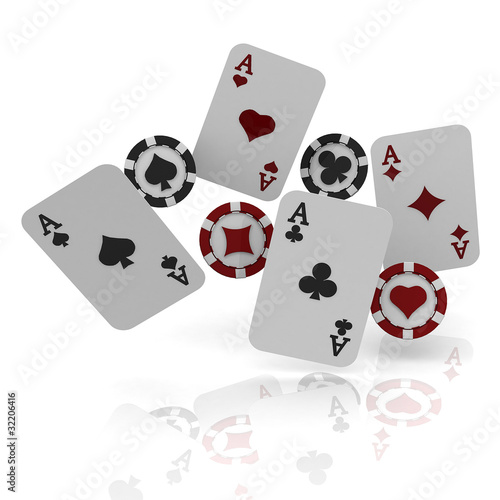 3d casino concept Poster