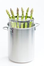 Green Asparagus In Pot