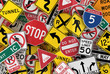 canvas print picture - American traffic signs