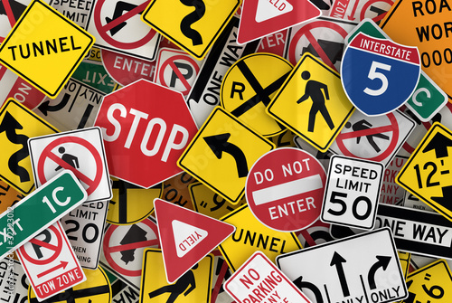 American traffic signs Fototapeta