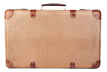 Vintage Brown Suitcase Isolate...