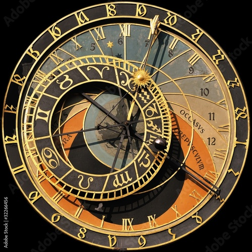 Photo 600 years old clock