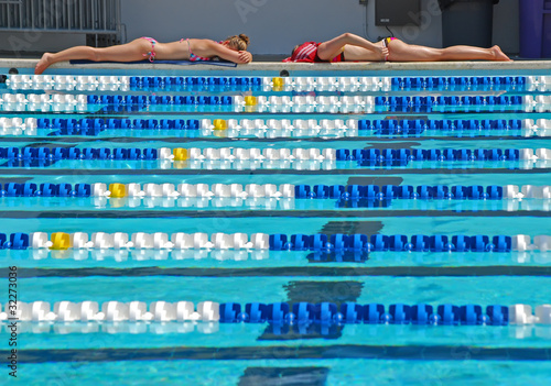 Lap Pool Sunbathers
