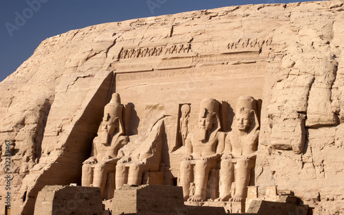 Fotografia, Obraz  The Temple of Ramesses II at Abu Simbel in Southern Egypt