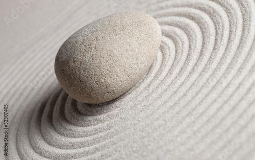 Foto op Plexiglas Stenen in het Zand Zentrum