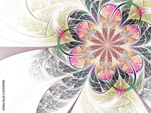 kolorowy-fraktal-streszczenie-kwiat-na-bialym-tle