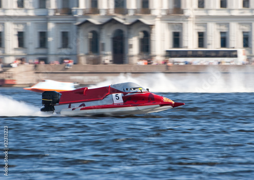 Poster Nautique motorise F1H2O powerboat on championship in Saint Petersburg