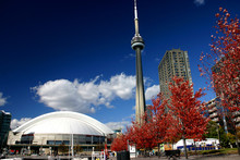 CN Tower And Roger Centre During Fall
