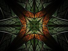 Symmetrical Leafy Forest Patte...