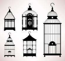 Bird Cage Birdcage Vintage Ret...
