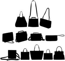 Handbags Silhouette Set