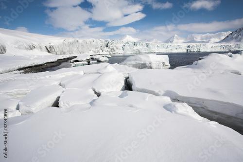 Poster Arctic Arctic glacier landscape