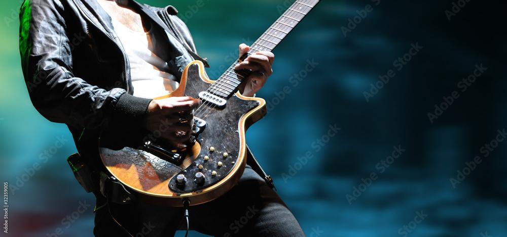 Fototapety, obrazy: gitarre musik