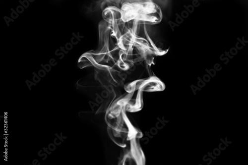 Fotobehang Rook smoke on black background