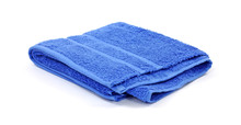 Blue Terrycloth Bath Towel