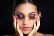 canvas print picture - gewagtes makeup