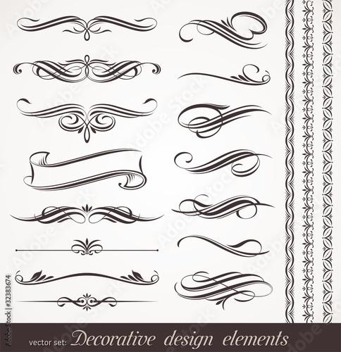 Fotografía  Vector decorative calligraphic design elements & page decor