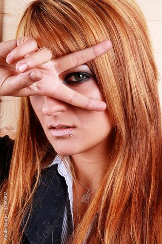 Photo  Geste einer jungen Frau