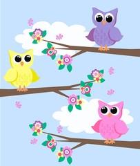 Panel Szklany Do pokoju dziecka owls