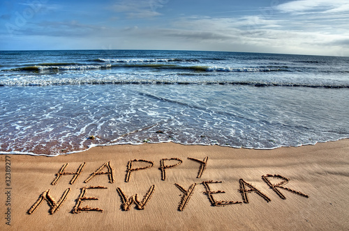 Foto op Aluminium Inspirerende boodschap New year