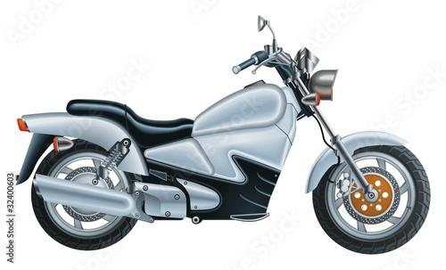 Poster Motocyclette Bike vector