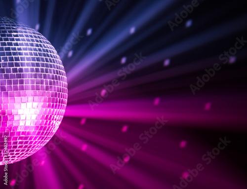 Fotografie, Obraz party lights disco ball