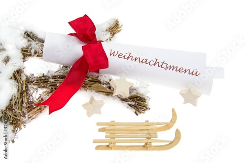 Weihnachtsmenü.Weihnachtsmenü Speisekarte Buy This Stock Photo And Explore