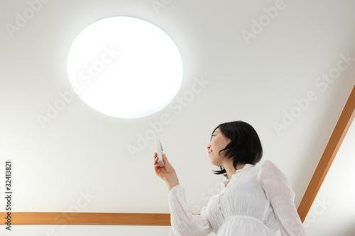Fotografie, Obraz  照明と女性