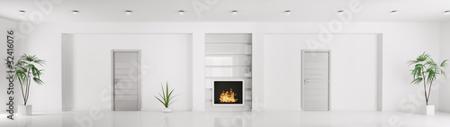 Photo Modern weiss interior 3d render