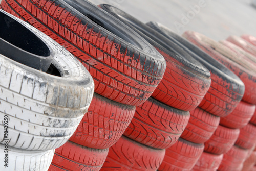 Tuinposter Motorsport +pneus_02