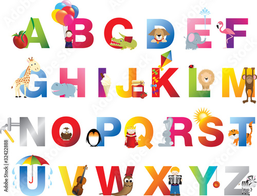Complete childrens alphabet #32422888