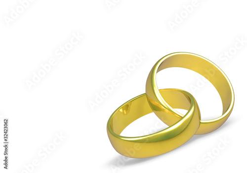 2 goldene ringe auf wei em hintergrund kaufen sie diese. Black Bedroom Furniture Sets. Home Design Ideas