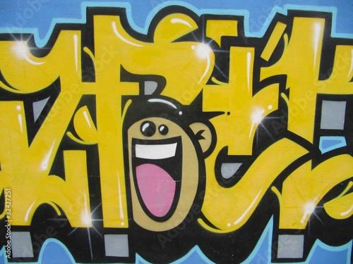 Urban graffiti smile.