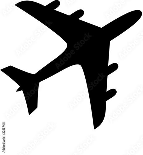 pictogramme avion Canvas Print