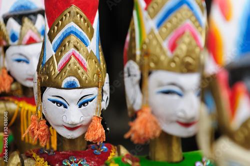 Obraz na plátně  Indonesia, Bali, Traditional puppet
