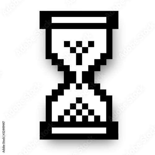 Photo sur Toile Pixel Computer Maus Computermaus Mauszeiger Sanduhr 2
