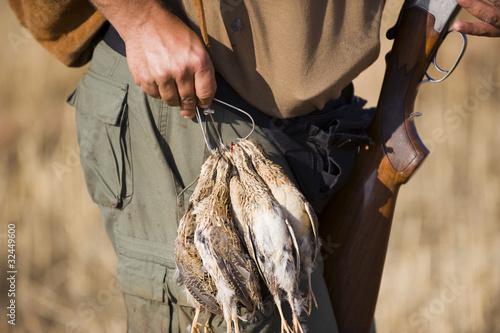 Foto op Canvas Jacht quail hunting