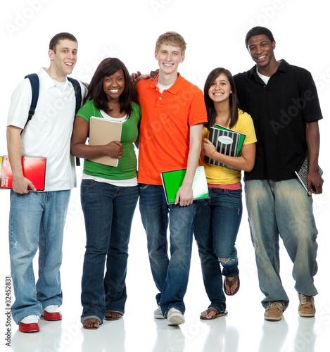 Fotografie, Obraz  Multicultural College Students