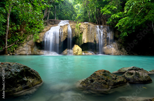 Recess Fitting Waterfalls Waterfall in Kanchanaburi Province,Thailand