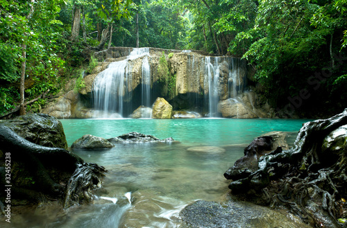 Fototapety, obrazy: Erawan Waterfall in Kanchanaburi Province, Thailand