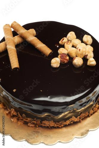 Obraz na plátně  torta al cioccolato