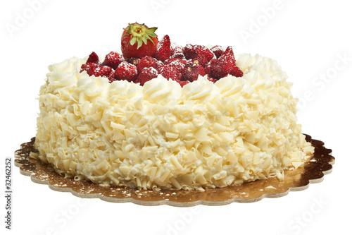Obraz na plátně  torta alla panna con fragoline