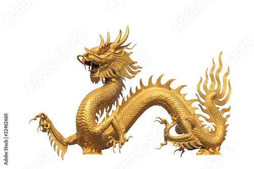 Fotografie, Obraz  Golden dragon
