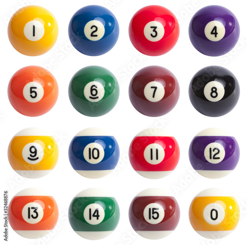 Fotografija Isolated Colored Pool Balls