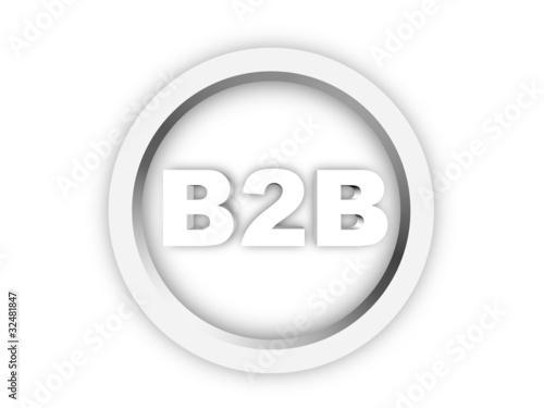 B2b Btob Icon Button Symbol 3d Rendering Buy This Stock