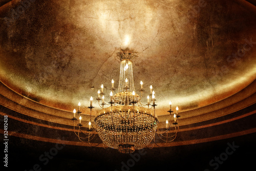grunge chandelier Canvas Print