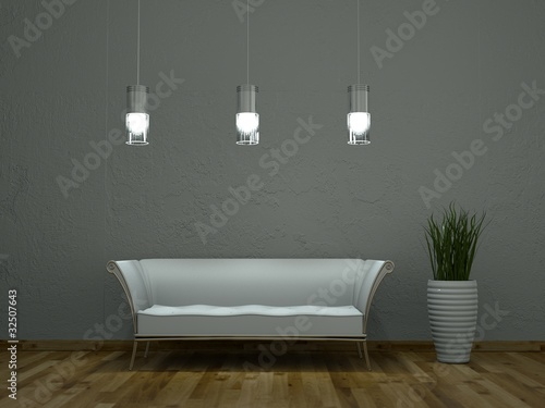 Moderne Lampen 76 : D sofa weiss mit lampen buy this stock illustration and