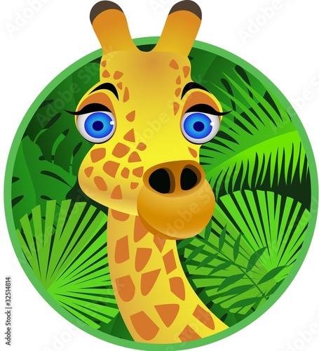 Foto op Aluminium Zoo giraffe cartoon